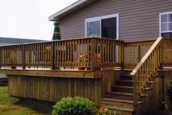 deck manufactured home