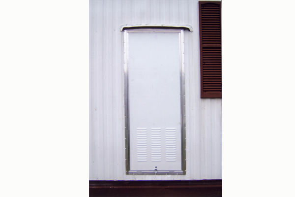 water heater access door